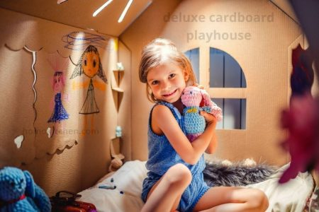 deluxe cardboard playhouse