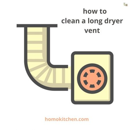 how to clean a long dryer vent